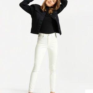 Everlane high rise skinny jean white 32 tall 14